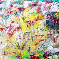 Malerei, Abstrakt, Acryl auf leinwand, Acrylmalerei