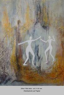 Bewegung, Kommunikation, Wald, Malerei