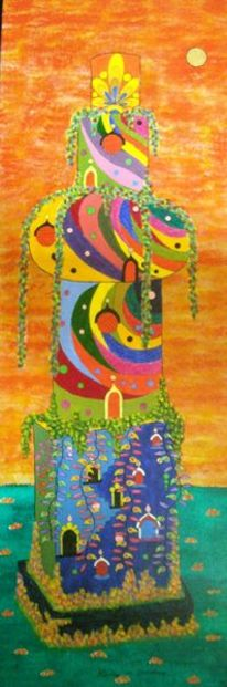 Acrylmalerei, Maghreb, Abstrakt, Zyklus