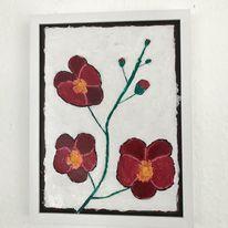 Malerei, Blumen, Fantasie, Acrylmalerei