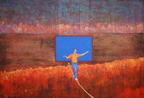 Landschaftsmalerei, Gefahr, Expressionismus, Seiltanz