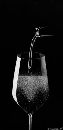 Stillleben, Sekt, Weinglas, Fest
