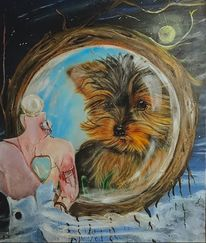 Tiermalerei, Spiegel, Portrait, Landschaft