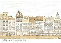 Historische, Deutschland, Stadtansicht, Architektur