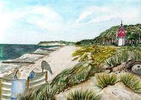 Strand, Hiddensee, Insel, Leuchtturm