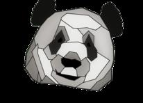 Geometrie, Panda, Schwarz, Abstrakt