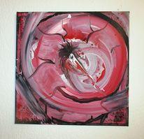 Abstrakt, Vogel, Mischtechnik, Malerei