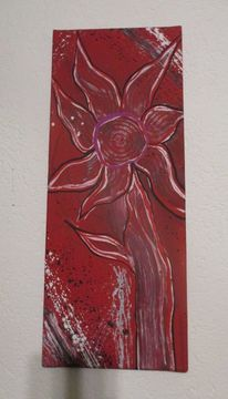 Rot, Malerei, Fantasie, Mischtechnik