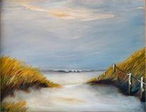 Insel, Strand, Landschaftsmalerei, Schatten