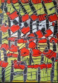 Experimentell, Verspielen, Abstrakte figuren, Malerei