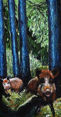 Wald, Tiere, Grün, Baum