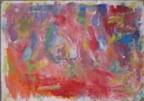 Abstrakter expressionismus, Abstrakte malerei, Rosa, Malerei