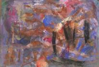 Informel, Abstrakte malerei, Terra di siena, Abstrakter expressionismus