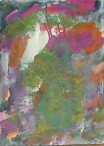 Abstrakter expressionismus, Hässlichkeit, Abstrakte malerei, Rosa