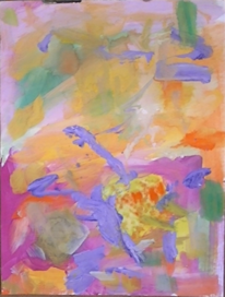 Abstrakte malerei, Rosa, Abstrakter expressionismus, Lila