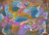 Himmelblau, Abstrakter expressionismus, Abstrakte malerei, Rosa