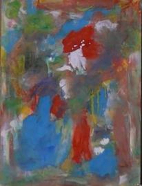 Wild, Blau rot, Deformiert, Abstrakter expressionismus