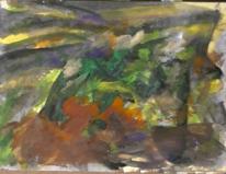 Abstrakter expressionismus, Wild, Landschaft, Gouachemalerei