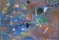 Informel, Abstrakte malerei, Gouachemalerei, Abstrakter expressionismus