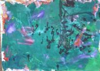 Malerei, Informel, Grün schwarz, Abstrakter expressionismus