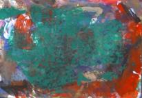Abstrakte malerei, Rot grün, Abstrakter expressionismus, Malerei