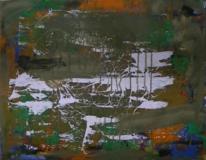 Informel, Abstrakte malerei, Abstrakter expressionismus, Weisse kleckse