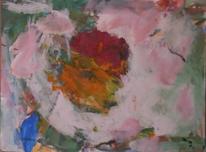 Abstrakte malerei, Rosa, Abstrakter expressionismus, Malerei