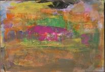 Abstrakte malerei, Wild, Abstrakter expressionismus, Gouachemalerei