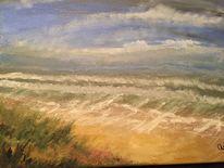 Malerei, Nordsee, Meer, Strand