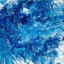 Weiß, Blau, Türkis, Malerei