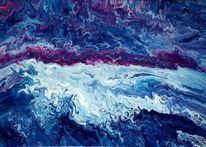 Weiß, Blau, Magenta, Malerei