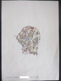 Vergänglichkeit, Surreal, Tod, Zeichnung