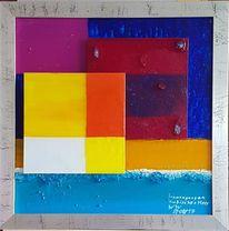 Wasser, Sonne, Glasscheiben, Glassplitter