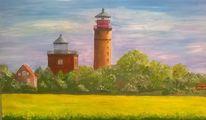 Landschaft, Leuchtturm, Malerei, Ostsee