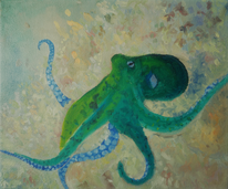 Meer, Krake, Tiere, Malerei
