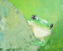 Grün, Frosch, Natur, Malerei