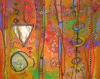 Blumen, Modern, Farben, Abstrakt