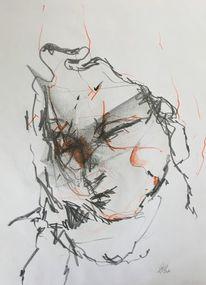 Grafit, Portrait, Zeichnung, Zeichnungen