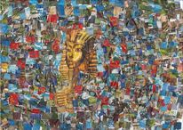 Ägypten, Bunt, Collage, Collag