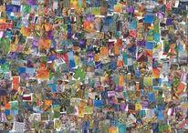 Farben, Collage, Musik, Thc