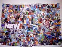 Modell, Collage, Techno, Bunt