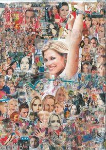 Collage, Kino, Musik, Wand