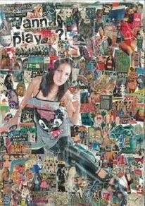 Musik, Collage, Bunt, Farben
