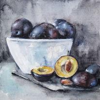 Stillleben, Früchte, Realismus, Pflaume