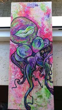 Pinnwand, Neon, Tintenfisch