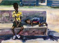 Kinder, Menschen, Acrylmalerei, Malerei