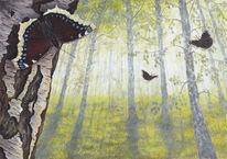 Natur, Tiere, Acrylmalerei, Pflanzen