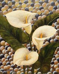 Blumen, Kugel, Calla, Malerei