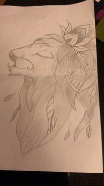 Zeichnung, Löwe, Zeichnungen
