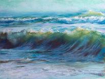 Ozean, Schaum, Strand, Rauschen